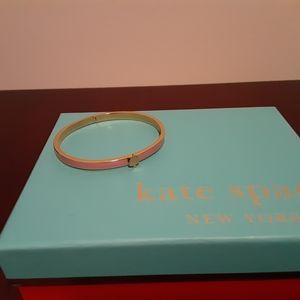 Kate Spade thin pink hinged bracelet w/spade